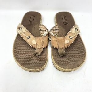 Womens Size 6 Sperry Sandals Slip On Thong